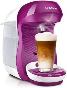 CYE Tassimo Happy Kapselmaschine TAS1001 Kaffeemaschine by Bosch, ber 70 Getrnke, vollautomatisch, geeignet fr alle Tassen, platzsparend, 1400 W, pink