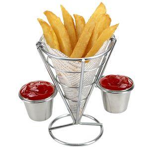 Zwei Tassen langlebiger Chip-Ständerhalter Snacks Pommes Frites Display Rack