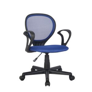 Bürostuhl Drehstuhl Schreibtischstuhl Blau/Schwarz H-2408F/2059