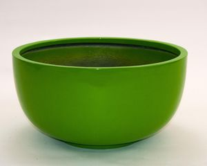 Pflanzschale Fiberglas rund D60xH30cm hochglanz avocado grün