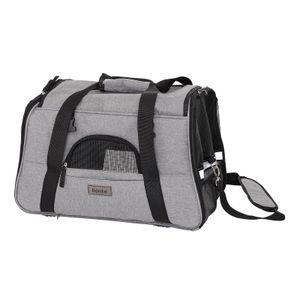 lionto Faltbare Hundetasche Hundebox Reisetasche für Haustiere Hundetransportbox Flugzeugtasche für Hunde Grau