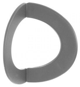 Ofenrohr / Rauchrohr Rosette 90° gewinkelt Innen-Eck Ø 150 mm grau