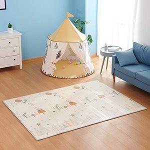 Spielmatte BabyTeppich Spielteppich Krabbelmatte Rutschfest Wasserdicht Beidseitig Faltbarer Schaumboden für Kleinkind (180 x 144 x 2 cm)
