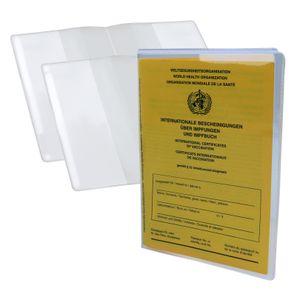 2 Stück Impfpass Hülle Schutzhülle Impfpasshülle für Impfausweis Impfbuch Schutz