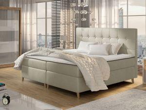 Mirjan24 Boxspringbett Avanti, Doppelbett mit zwei Bettkästen, Ehebett mit Matratze (Farbe: Magic Velvet 2201, Größe: 160x200 cm)
