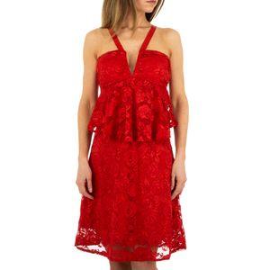 Ital-Design Damen Kleider Cocktail- & Partykleider Rot Gr.m