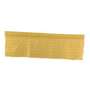 Landhaus Raffrollo Fenstervorhang Raffgardine Vorhang Gardine Kurz für Fenster Farbe Gelbes Gitter
