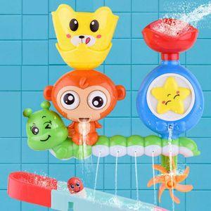 Melario Badewannenspielzeug Badespielzeug Baby Wasserspielzeug Spray Wasser Affe Toy