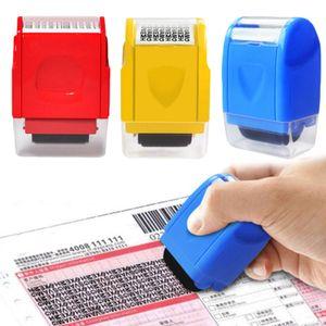 Datenschutz-Rollstempel Identitätsschutz Privatsphärenschutz Textschwärzer Sicherheit Rollstempel,Gelb