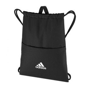 adidas Kinder Sportbeutel Linear Performance Gym Bag Tasche schwarz grau