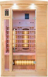 JUNG APOLLON Infrarot Saunakabine 2 Personen, Holz Sauna , Größe S 120x105cm, Infrarotsauna, Infrarotkabine Wärmekabine