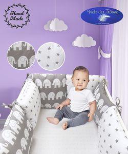 Bettumrandung Kantenschutz Bettnestchen Nest Kopfschutz Kissen-Nestchen Babybett  – 6 Stück Kissen (Muster 10)