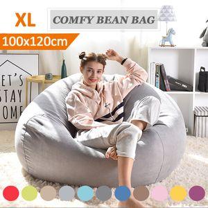 100*120CM Sitzsack Sofa Relaxationbag Gaming Chair Loung Sessel Stuhl Gammer Sitzkisse de -Grau