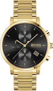 Hugo Boss Herren Chronograph Integrity Armbanduhr 1513781 - Edelstahl/Gold/Schwarz