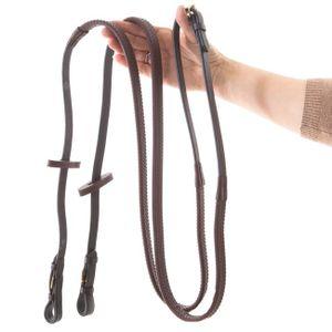 Horseware Rambo Micklem Gummizügel Multibridle mit Metallschnallen - braun, Größe:Pony (S)