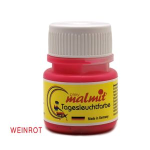 Tagesleuchtfarbe Weinrot 60ml Neon Schwarzlichtfarbe UV Farbe Neonfarbe Leuchtfarbe