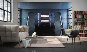 "Komar Digitaldruck Vliestapete ""Star Wars Death Star Floor"", bunt, 400 x 250 cm"