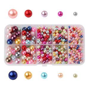 1000 pcs bunt Perlen Kunststoff Perlen Rund form für Basteln Schmuck Herstellen DIY Kunsthandwerk