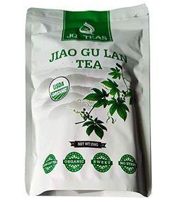 JQ 500g natürlicher Jiaogulan Tee getrocknet – Unsterblichkeitskraut, Wildwuchs ohne Stengel, stets frisch, natürliche Süße, Anti-Stress- und Schlaftee