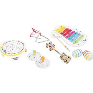 Small Foot Design 10383 Musikinstrumente für Kleinkinder Musik-Set 'Die Krachmacher', bunt, 10-teilig (1 Set)