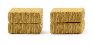 WIKING miniatur-Heuballen Quadrat 1:87 braun 2 Stück