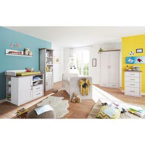 Babymöbel Komplettset LUND-78 in Pinie weiß Nb./Trüffel Eiche Nb., Landhaus Design