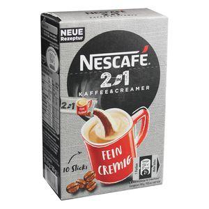 Nescafé 2in1 Sticks, Instantkaffee mit Creamer, Instant Kaffee, 10 Portionssticks