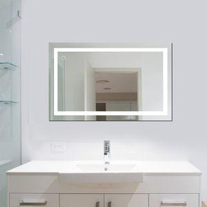 WYCTIN LED Badspiegel mit Beleuchtung Badezimmerspiegel  23W 100x60cm