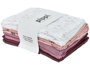 Pippi hydrophile Tücher 70 cm Baumwolle weiß/rosa 8 Stück