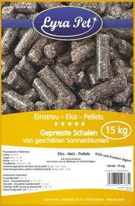 15 kg Lyra Pet® EKO Pellets aus Sonnenblumen Schalen Einstreu