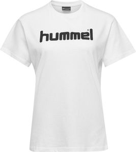 hummel hmlGO Baumwoll Logo T-Shirt Damen kurzarm white L