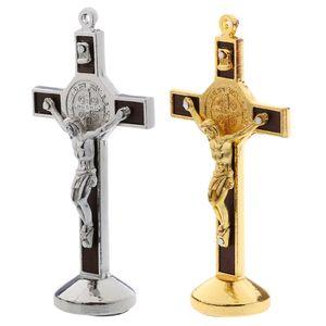 2x Christus Jesus Kreuz Kruzifix Figur
