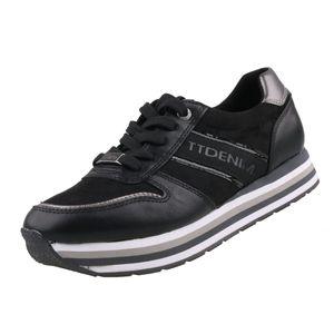 TOM TAILOR  Damen Sneaker Schwarz, Schuhgröße:EUR 39