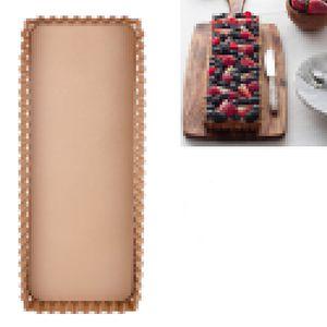 Tarteform,36cm*15cm Tortenform,Nonstick Rechteckige Quicheform,Obstkuchenform und Backform mit Entfernbarem Antihaftbeschichtung