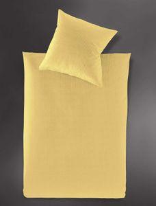 Irisette Interlock-Jersey uni Bettwäsche Set uni Bettwäsche 2 teilig Bettbezug 135 x 200 cm Kopfkissenbezug 80 x 80 cm Lumen 8129-42 honig