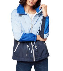 TOM TAILOR Windbreaker strapazierfähige Damen Frühlings-Jacke im Colorblocking-Stil Blau, Größe:XS