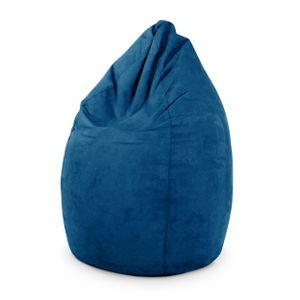 Green Bean © DROP Sitzsack 60x60x90 cm - Indoor Beanbag in Tropfenform - Bean Bag Gaming Sessel - Gamer Lounge Chair in Wildleder Optik - Blau