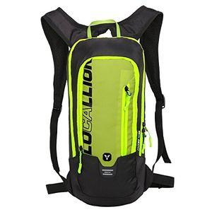 LUSCHAN Fahrradrucksack Skirucksack klein für Damen & Herren 6L Ultraleicht wasserdicht mit Trinksystem für Trinkblase bis 2L - Ideale zum Skifahren Radsport Camping schwarz rot grün blau