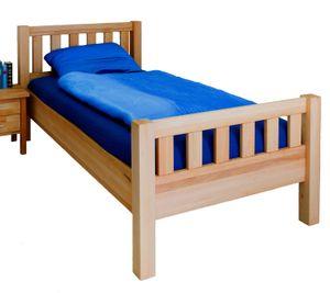 Komfortbett Seniorenbett Kopf- und Fußteil Kernbuche massiv 100x200