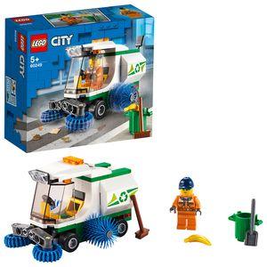 LEGO 60249 City Straßenkehrmaschine mit Fahrer, Spielzeugautos Sets für Kinder
