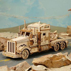 Holzpuzzle-Modell Auto Modellbausätze Für Erwachsene Holzmodell Lastwagen