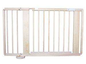 Absperrgitter Türschutzgitter Treppenschutzgitter  massiv braun 119cm