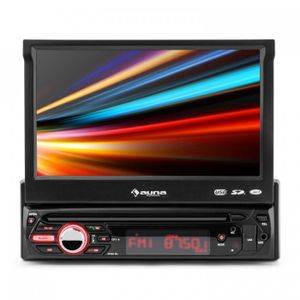 "auna MVD-310 - Autoradio , Car-Radio , Moniceiver , 17,8 cm (7"") Touchscreen Display , Bluetooth , USB- & SD-Slot , AV-Eingang , UKW-RDS-Tuner , MP3, MP4, MPEG4 , abnehmbares Bedienteil , schwarz"
