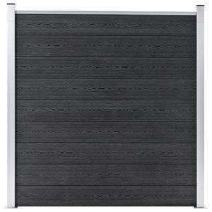 vidaXL Gartenzaun WPC 180×186 cm Grau
