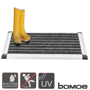 bomoe Alu Fußmatte AluGant Haustür Fußabtreter mit Gummi, Artikel Höhe:1.5cm, Artikel Länge:40cm, Artikel Breite:60cm