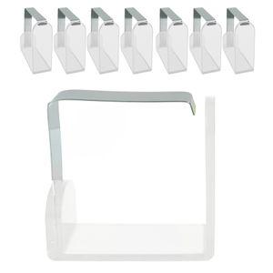 16 Stück Tischtuchklammer Kunststoff Tischdeckenklammer Tischdeckenklemmen Tischdeckenhalter Klammer zum Befestigen der Tischdecke Deckenklammer Tischdecke Clips für 3cm Tische nutzbar (Transparent)