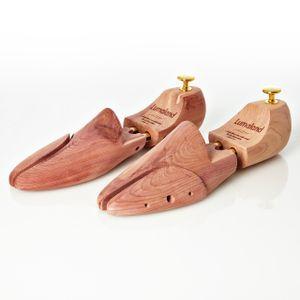 Lumaland hochwertiger Schuhspanner Zedernholz Doppelfederung Uni Größe 44/45