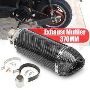 38-51mm Motorrad Auspuff Endtopf Schalldämpfer Abnehmbar Carbon Farbe Edelstahl