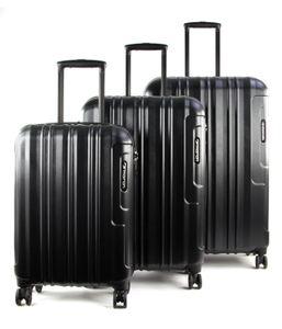 March Cosmopolitan SE Kofferset  metal blue mit Rollen Kofferset