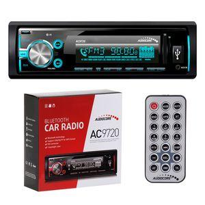 AUDIOCORE AC9720 Autoradio, Mechaless, USB-Receiver, MP3-Wiedergabe, Front-AUX, Bluetooth